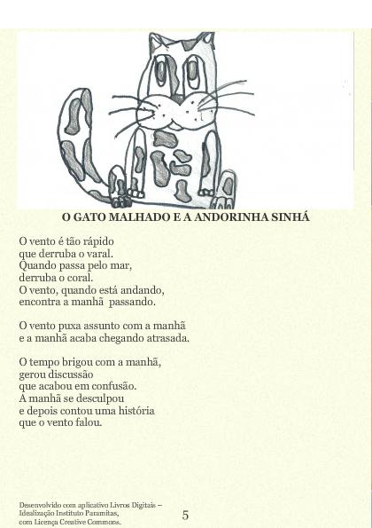 O Livro de Cordel do Gato Malhado e da Andorinha Sinhá