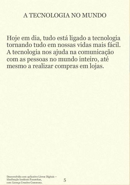 A tecnologia no mundo atual