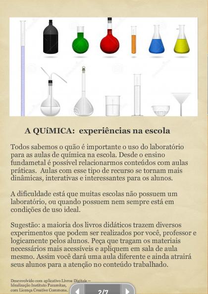 As ciências na escola: o saber aliado à prática.